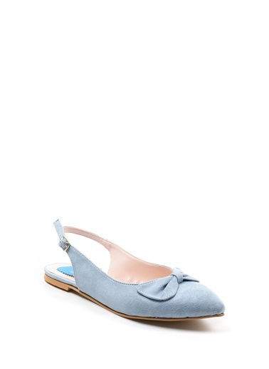 Sapin Sivri Burun Sandalet Mavi